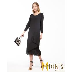 MONS 魅力時尚長版修身洋裝