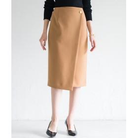 Loungedress(ラウンジドレス) レディース ラップタイトスカート キャメル
