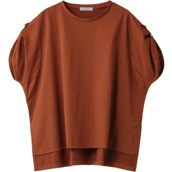 SALE 【30%OFF】 HELIOPOLE エリオポール 肩リボンTシャツ オレンジ