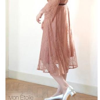 ロペピクニック(ROPE' PICNIC)/【一部店舗限定】【Mon E'toile】【結婚式にも】【セットアップ対応】レースフレアスカート