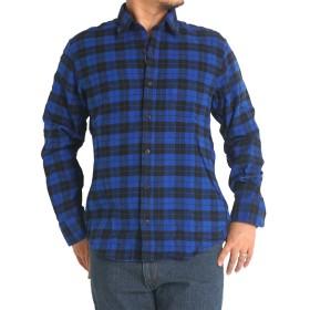ネルシャツ メンズ 綿100% 長袖 abe851 L 550