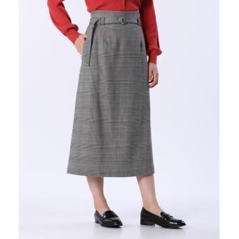 【PLST】ウールブレンドナロースカート