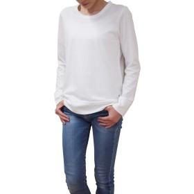 harmonie (アルモニ オーガニックコットン) レディース カットソー 長袖 off white (オフ ホワイト) オーガニックコットン100% ふんわり天竺切り替え ロングスリーブ フリーサイズ