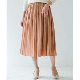 Loungedress(ラウンジドレス) レディース グロッシープリーツスカート ピンク