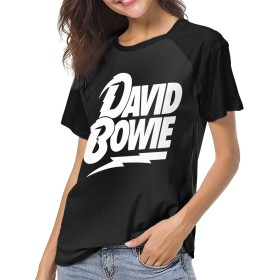 レディース 夏tシャツ ショートスリーブ DAVID BOWIE デヴィッド ボウイ クルーネック 半袖 吸汗速乾 ショートスリーブ 快適 ハイクオリティー シンプル カジュアル Tシャツ 少年野球 ベースボールウェア
