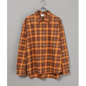 CIAOPANIC(チャオパニック) レディース 綿テンセルビエラチェックシャツ/WEB限定カラーあり イエロー