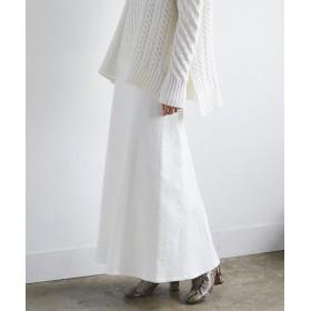 GALLARDAGALANTE(ガリャルダガランテ) レディース デニムマーメードスカート ホワイト