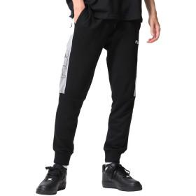 [フィラ] FILA ジョガーパンツ スウェット サイドライン バイカラー メンズ ファッション fh7520 ブラック M