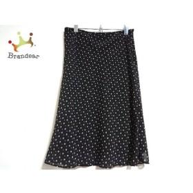 ニジュウサンク 23区 スカート サイズ40 M レディース 新品同様 黒×白×ピンク 小花柄 新着 20190831