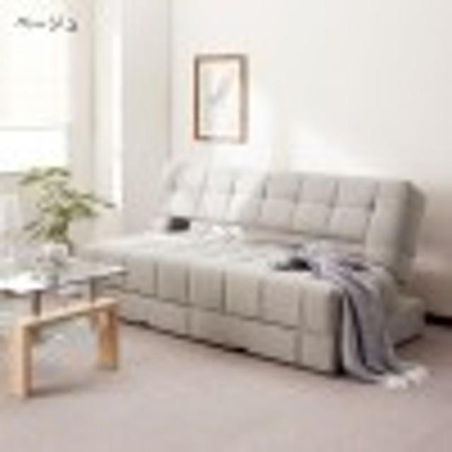 収納付き6段階リクライニングソファーベッド