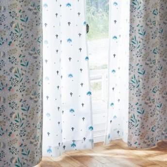 サイズが豊富な刺繍風汚れ防止加工付き・UVカット・ミラーレースカーテン[日本製]