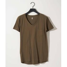 COLONY 2139(COLONY 2139) レディース ∨ネックベーシックTシャツ カーキ