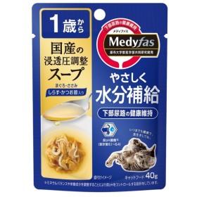 メディファス スープパウチ 1歳から成猫用 しらす・かつお節入り 40g