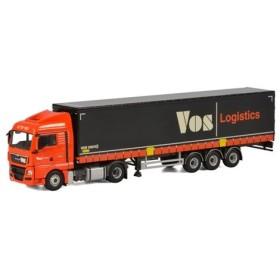 Vos Logistics MAN TGX XLX カーテンサイダートレーラー 3軸 トラック /WSI  建設機械模型 工事車両 1/50 ミニチュア