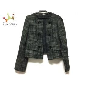 ダナキャラン DKNY ジャケット サイズ2 M レディース 黒×白 新着 20190831