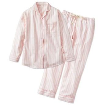 40%OFF【ティーンズ】 ストライプ柄シャツタイプパジャマ(綿100%) - セシール ■カラー:ピンク ■サイズ:S,M,L