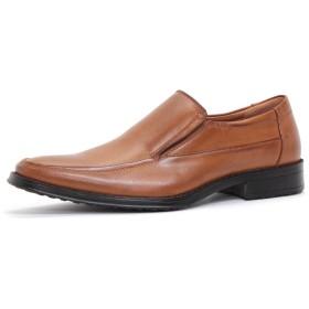 [AAA+]2673 ビジネスシューズ 防滑 ロングノーズ 革靴 通勤 冠婚葬祭LBR (25cm)