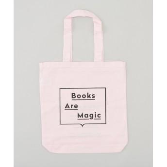 CIAOPANIC(チャオパニック) メンズ 【BOOKS ARE MAGIC/ブックスアーマジック】ロゴプリントトートバッグ ピンク