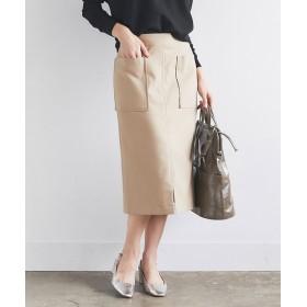 GALLARDAGALANTE(ガリャルダガランテ) レディース ポケットタイトスカート ベージュ