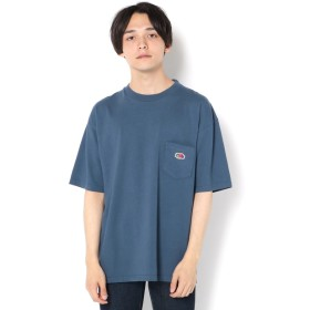 CIAOPANIC(チャオパニック) メンズ 【FRUIT OF THE LOOM】ワンポイントワッペンポケットTシャツ ブルー