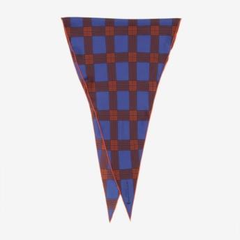 【マッキントッシュ ロンドン ウィメン(MACKINTOSH LONDON WOMEN)】 ◆◆チェックダイヤモンドシェイプスカーフ ブルー