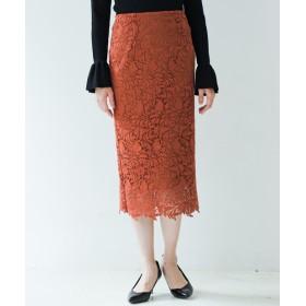 Loungedress(ラウンジドレス) レディース レースタイトスカート オレンジ