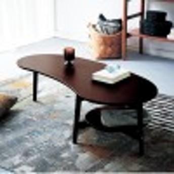 【大型商品送料無料】変形型の薄型リビングテーブル