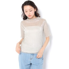 OUTLET(アウトレット) レディース 【WHO'S WHO gallery】テレコメローラメTEE ベージュ