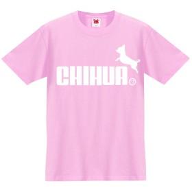 チワワ グッズ 服 面白 tシャツ プレゼント 雑貨【レディースL】【ピンク】