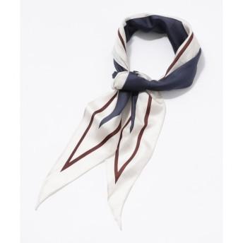 【クミキョク/組曲】 シルクツイルダイヤラインスカーフ
