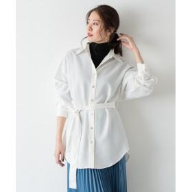 Loungedress(ラウンジドレス) レディース ベルテッドシャツ オフホワイト