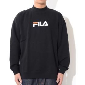 FILA フィラ クルースウェット ハイネック センターロゴ刺繍 (FM9509) 2XL 08/BLACK