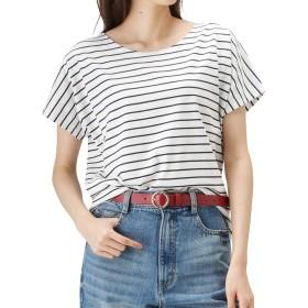 ボーダー Tシャツ レディース 半袖 ドルマン ゆったり カットソー マリン 人気 OGCS9004 レディース ネイビー:L