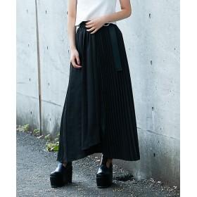 BARAK(バラク) レディース ヘムアシメミックススカート ブラック