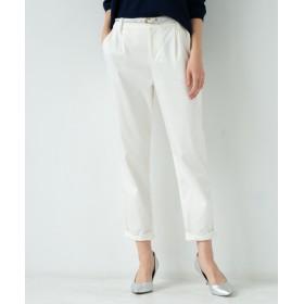 Loungedress(ラウンジドレス) レディース 裾ねじりパンツ オフホワイト