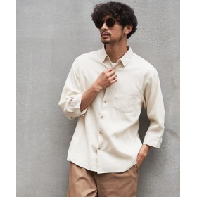 CIAOPANIC TYPY(チャオパニックティピー) メンズ ワッフル織り7分袖シャツ アイボリー