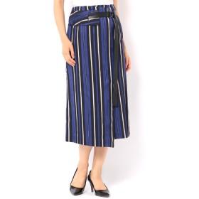 【アンティグラヴィテ/Antigravite】 ストライプ配色・ラップ風スカート