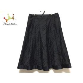 バーバリーロンドン スカート サイズ40 L レディース ダークグレー×黒 チェック柄 新着 20190831
