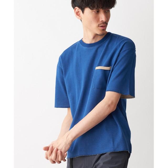 Discoat(ディスコート) メンズ ダブルフェイスポケ付きTシャツ ネイビー