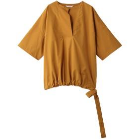 PLAIN PEOPLE プレインピープル スーピマコットンタイプライタースキッパーブラウジングシャツ オレンジ