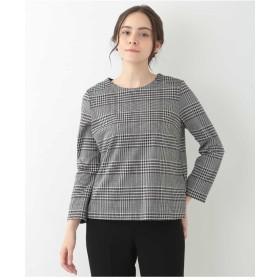 CHRISTIAN AUJARD グレンチェック切り込みデザインカットソー Tシャツ・カットソー,ブラック