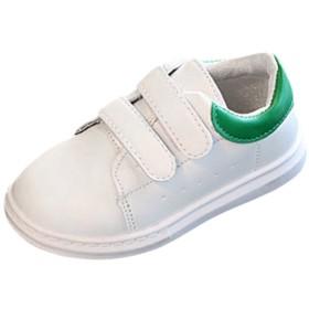子供靴 Yolaird キッズシューズ 男の子 女の子 子供シューズ スポーツシューズ スニーカー 運動靴 PUレザー 白 学生靴 滑り止め