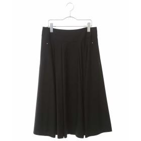HIROKO BIS GRANDE 【洗濯機で洗える】トリコットフレアスカート その他 スカート,ブラック