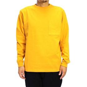(グッドウェア) Goodwear USAコットン袖リブロンT (Medium, Sゴールド)