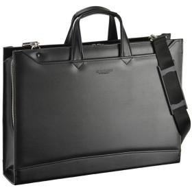 ビジネスバッグ メンズ ショルダーバッグ 2way 大容量 ブリーフケース ジェイシー ハミルトン 大開き兼用ビジネスシリーズ A3 黒 22344 22344