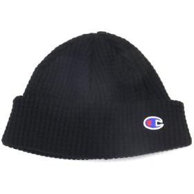 [Champion(チャンピオン)] ニット帽 メンズ ニットキャップ ブラック C PATCH SHORT BEANIE 492-1088
