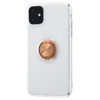 iPhone11 ケースリング付き クリア ソフトケース 落下防止 Ring ONE / ブロンズ ブラック アイフォン11 カバー 透明