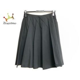 フォクシーニューヨーク FOXEY NEW YORK スカート サイズ38 M レディース 黒 プリーツ 新着 20190831
