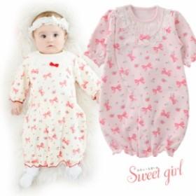 スウィートガールツーウェイオール[ベビー服][赤ちゃん][服][ベビー][ツーウェイオール][女の子][新生児][2wayオール][ドレスオール][50]