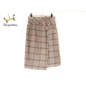 ジャスグリッティー JUSGLITTY スカート サイズ2 M レディース 美品 アイボリー×レッド×マルチ 新着 20190831